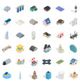 assembly icons set isometric style vector image vector image