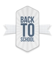 Back to School paper Banner with Ribbon vector image