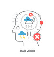 bad mood concept vector image vector image