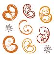 Bakery pretzel vector image vector image