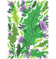 beautiful decorative border of flowers thistle vector image vector image