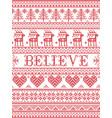believe christmas pattern scandinavian