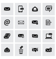 black email icons set vector image vector image