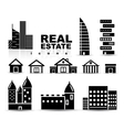 Black real estate  houses  buildings icon set vector | Price: 1 Credit (USD $1)