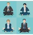Business people do yoga vector image vector image