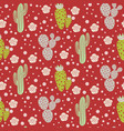 cactus desert seamless pattern green and vector image