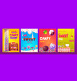 candy and sweet shop ad banners set various pastry vector image