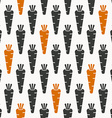 carrots seamless pattern in black and orange vector image vector image