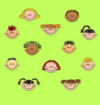cartoon child face icon vector image vector image