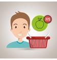 character buy discount fruit vector image vector image
