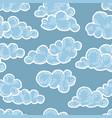 cloud pattern doodle line art cloudy sky vector image vector image