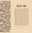 coffee time concept with thin line icons vector image vector image