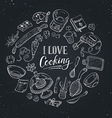Cooking poster vector image vector image