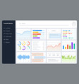 dashboard progress bars finance analytics data vector image
