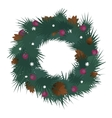 decorated christmas wreath with vector image