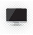 desktop computer flat icon realistic vector image vector image