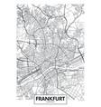 detailed poster city map frankfurt vector image vector image