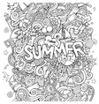 Doodles abstract decorative summer background vector image vector image