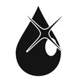 eye drop oil icon simple style vector image