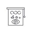 eyesight check line icon concept eyesight check vector image vector image