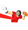 Football Player Quarterback Throwing Ball vector image vector image