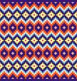 geometric rhobmus seamless blue and orange chevron vector image vector image