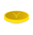 gold coin with the symbol of yen yuan vector image