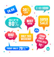 gradient sales speech bubbles labels collection vector image