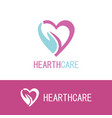 hand hearth care logo vector image vector image