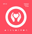 hands holding heart symbol graphic elements for vector image vector image