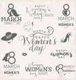 Happy Womens Day Design Elements for Greeting Card vector image vector image