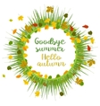 Hello autumn Goodbye summer vector image vector image