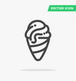 ice-cream line icon vector image vector image