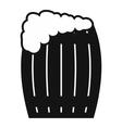 keg beer icon vector image vector image
