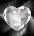 large metal heart vector image vector image