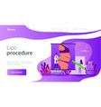 liposuction concept landing page vector image vector image