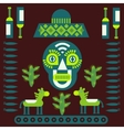 Mexican decorative elements vector image