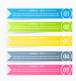 Modern infographics colorful design template vector image vector image