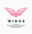 modern wings logo vector image vector image