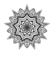 ornamental Lotus mandala ethnic zentangled vector image