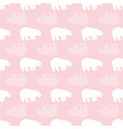 pastel baby pink and white polar bear vector image vector image