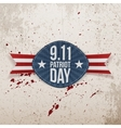 Patriot Day Tag with Ribbon 11th September vector image vector image