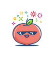 peach kawaii emoticon cartoon vector image