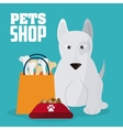 Pet shop and dog design vector image
