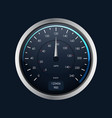 realistic detailed 3d speedometer on a dark vector image vector image