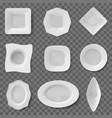 realistic food dish plate dish ceramic tableware vector image vector image