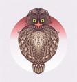 sacral owl - icon design vector image vector image