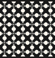 seamless geometric texture with circles vector image