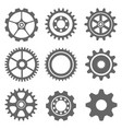 ser gear icon on gray background vector image