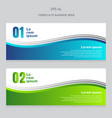 set abstract banner web design template blue vector image vector image